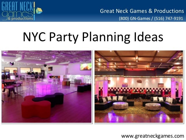 Great Neck Games & Productions (800) GN-Games / (516) 747-9191  NYC Party Planning Ideas  www.greatneckgames.com