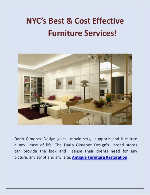 NYC's Best & Cost Effective Furniture Services