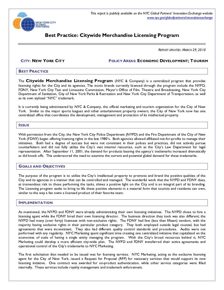 This report is publicly available on the NYC Global Partners' Innovation Exchange website                                 ...
