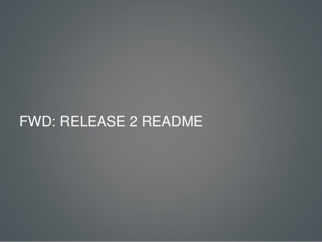The UX of TV - Release 2 Slide 2