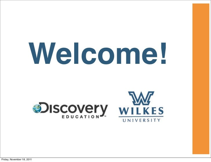 Welcome!Friday, November 18, 2011