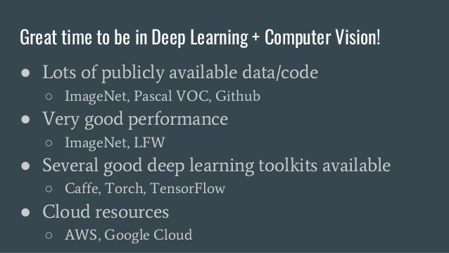 Industry Applications for Computer Vision and Deep Learning Slide 2