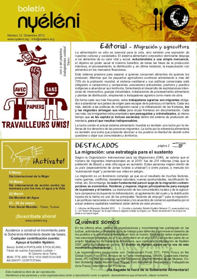 Número 12, Diciembre 2012     www.nyeleni.org - info@nyeleni.org                                                          ...