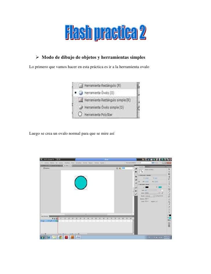  Modo de dibujo de objetos y herramientas simplesLo primero que vamos hacer en esta práctica es ir a la herramienta ovalo...