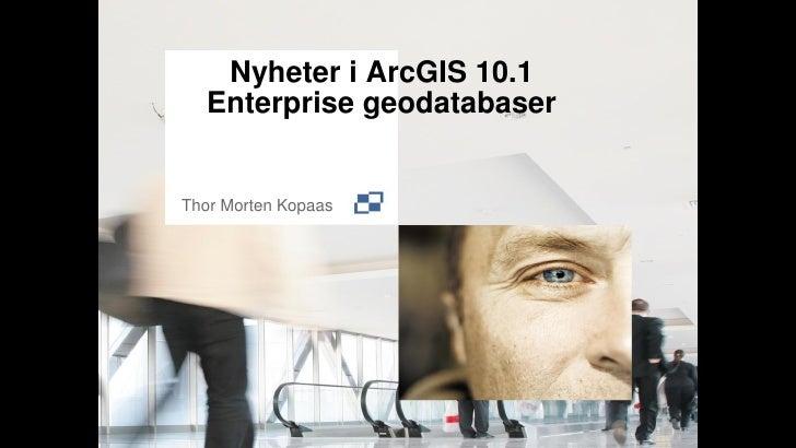 Nyheter i ArcGIS 10.1  Enterprise geodatabaserThor Morten Kopaas