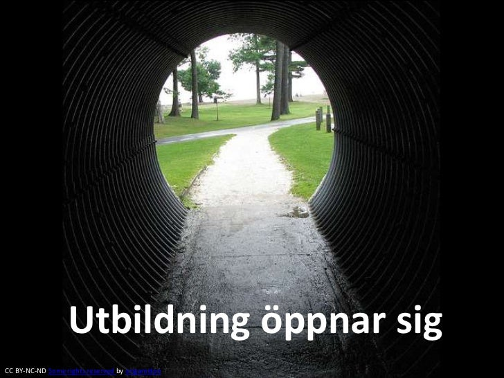 Utbildning öppnar sigCC BY-NC-ND Some rights reserved by origamidon