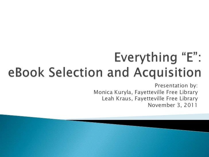 Is selection and acquisition