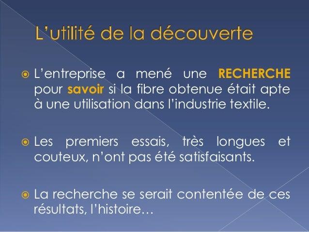    Au sein de Du Pont, des nouveaux protocoles ont    été mis au point permettant d'évaluer la qualité    textile en ne t...