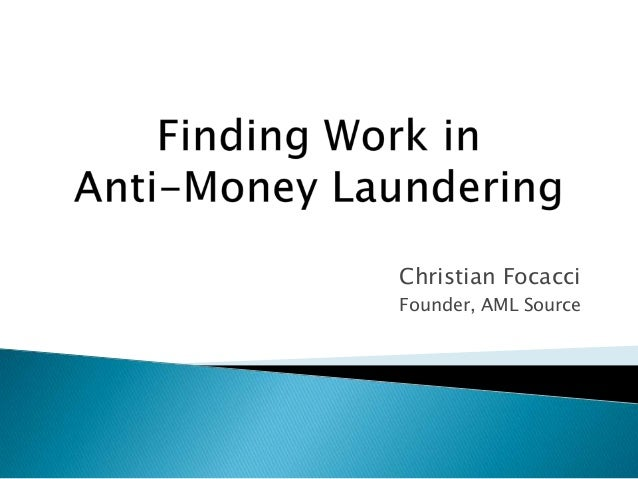 Christian Focacci Founder, AML Source