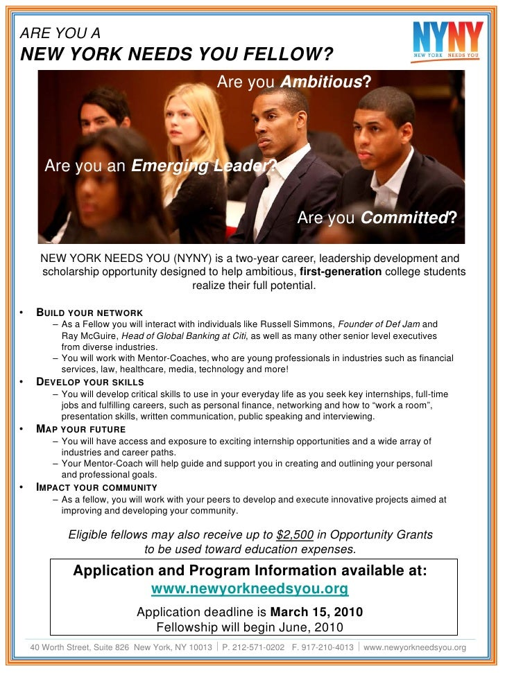 ARE YOU A NEW YORK NEEDS YOU FELLOW?                                                   Are you Ambitious?           Are yo...