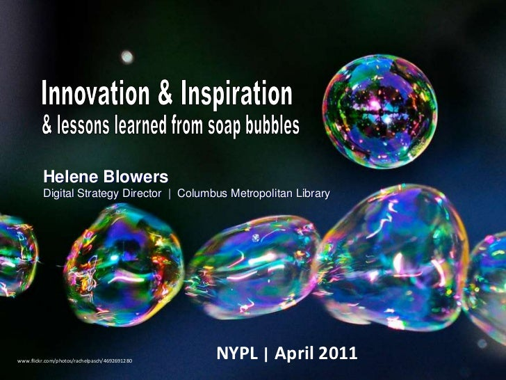 Inspiration, Innovation & Lessons Learned from Soap Bubbles