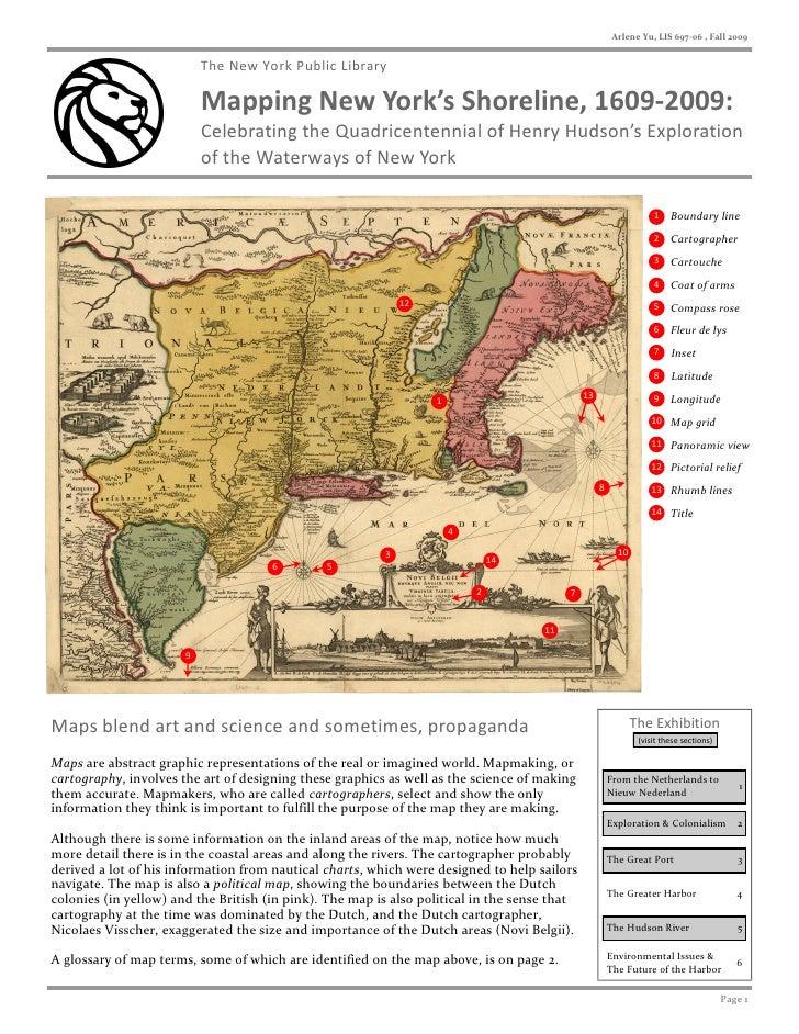 Arlene Yu, LIS 697-06 , Fall 2009                              The New York Public Library                             Map...