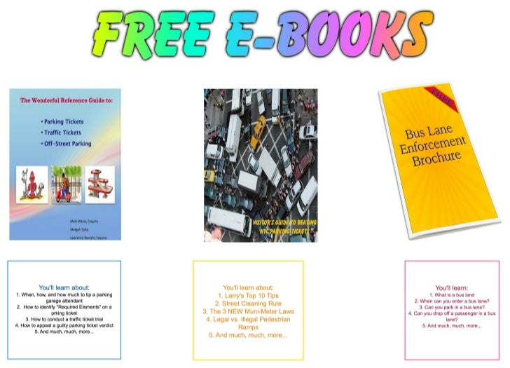 FREE E-books: How to Beat NYC Parking Tickets