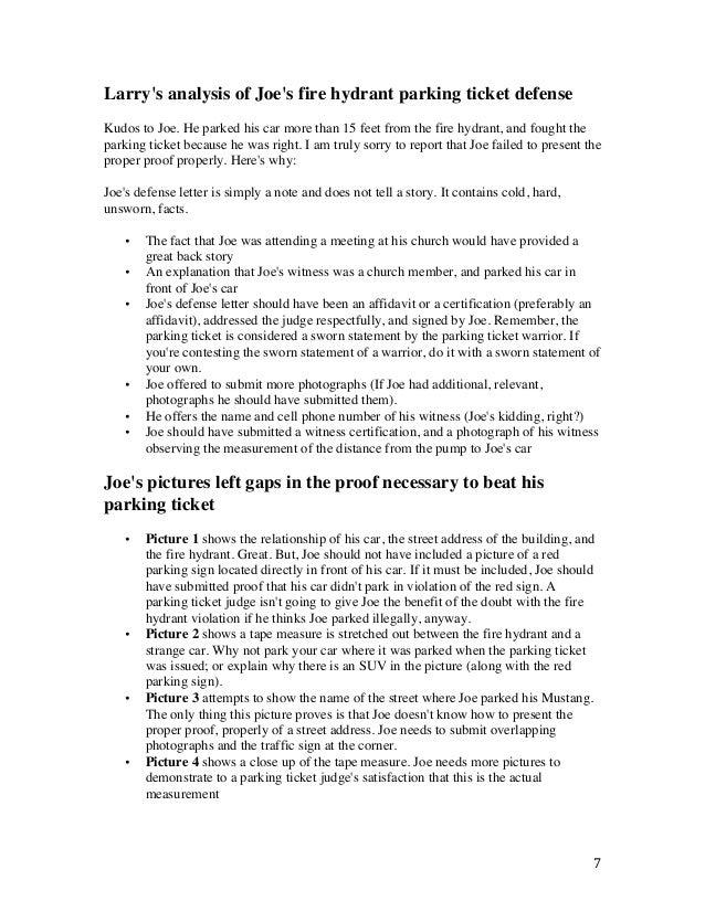 Sample Plea Letter to Judge For Speeding Ticket