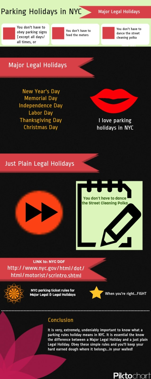 Parking Ticket Holidays in New York City