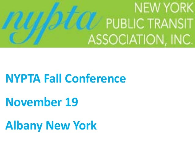 NYPTA Fall Conference November 19 Albany New York