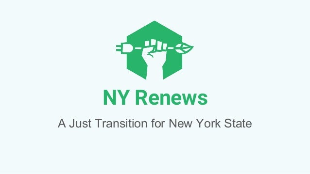 NY Renews A Just Transition for New York State