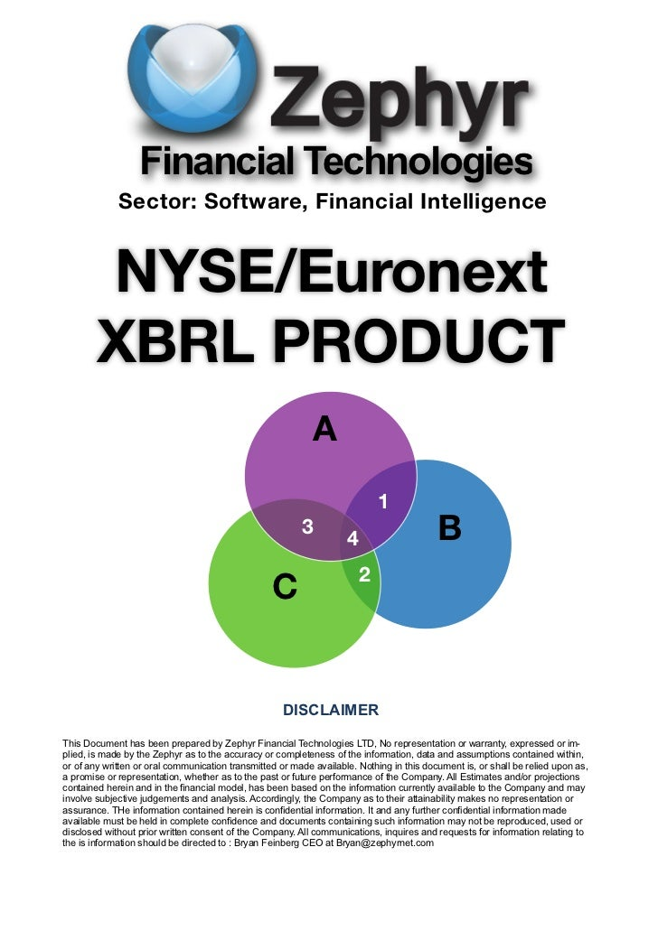 Financial Technologies             Sector: Software, Financial Intelligence        NYSE/Euronext        XBRL PRODUCT      ...