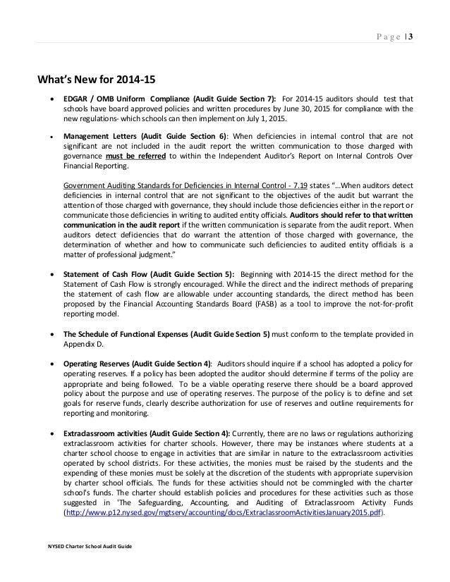 Charter School Audit Guide 2015