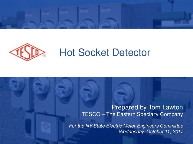 Hot Socket Detector Prepared by Tom Lawton TESCO – The Eastern Specialty Company For the NY State Electric Meter Engineers...