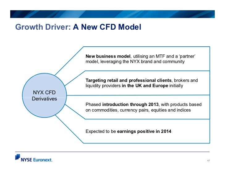 Growth Driver: A New CFD Model                 New business model, utilising an MTF and a 'partner'                 model,...