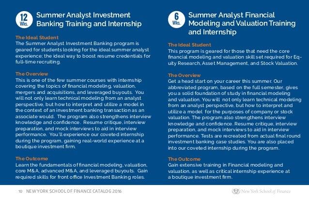 Finance resume critique