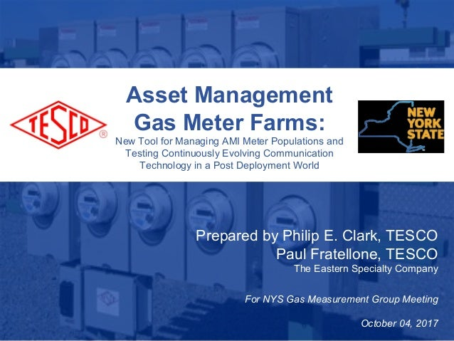 Slide 110/02/2012 Slide 1 Asset Management Gas Meter Farms: New Tool for Managing AMI Meter Populations and Testing Contin...