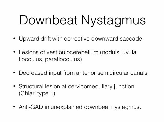 nystagmus and nystagmoid movements, Skeleton