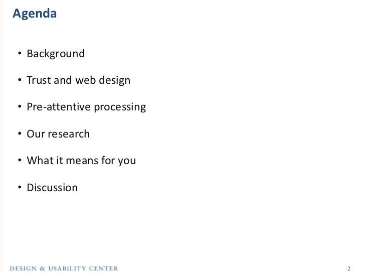 How Quick Are We to Judge? A Case Study of Trust and Web Site Design Slide 2