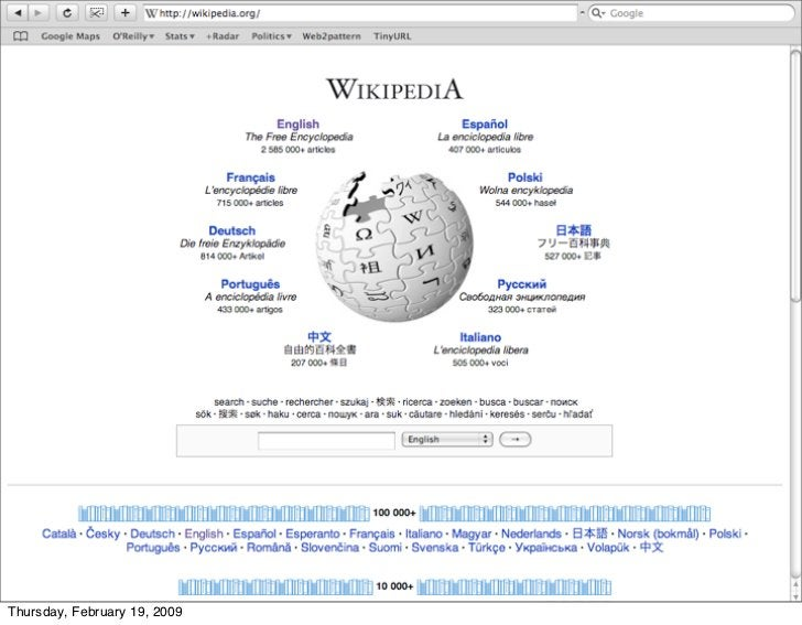 as is wikipedia     Thursday, February 19, 2009
