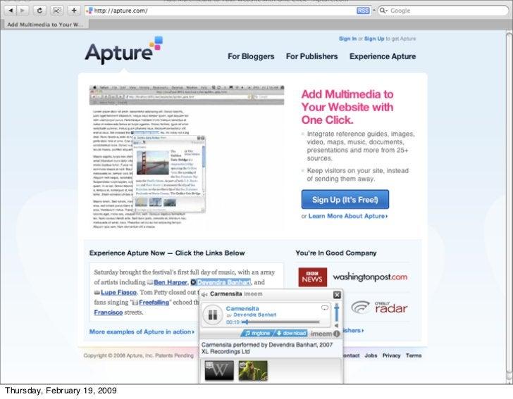 More apture     Thursday, February 19, 2009