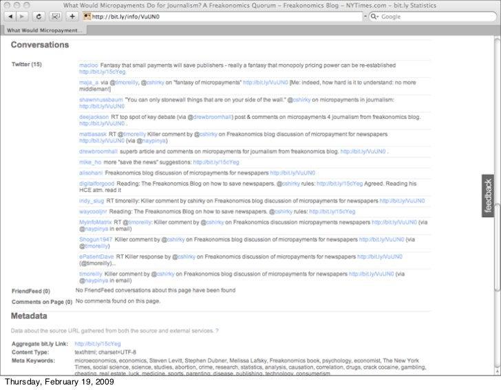 bit.ly-twitter integration     Thursday, February 19, 2009