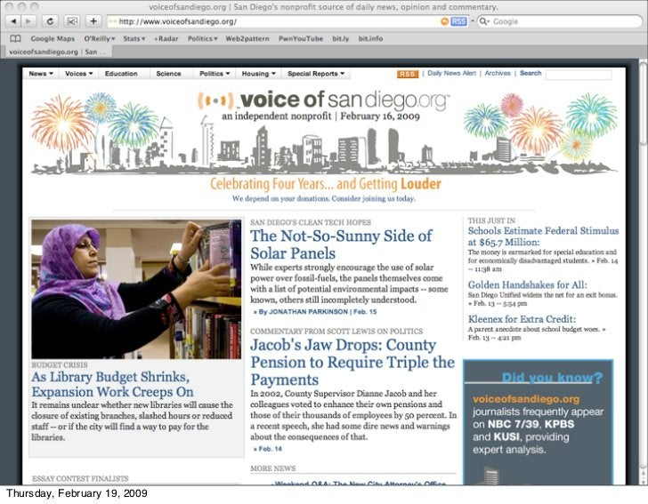 Voiceofsandiego.org                       • Some people say that the answer is for                        investigative jo...