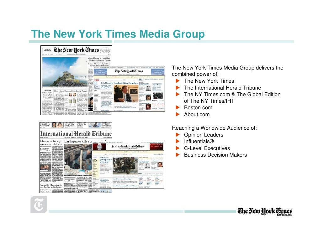 The New York Times Media Group                          The New York Times Media Group delivers the                       ...