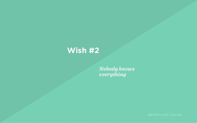 / Page 5 Wish #2 Nobody knows everything