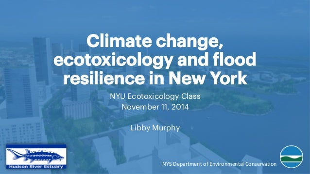 Climate change, ecotoxicology and flood resilience in New York NYU Ecotoxicology Class November 11, 2014 Libby Murphy NYS	...
