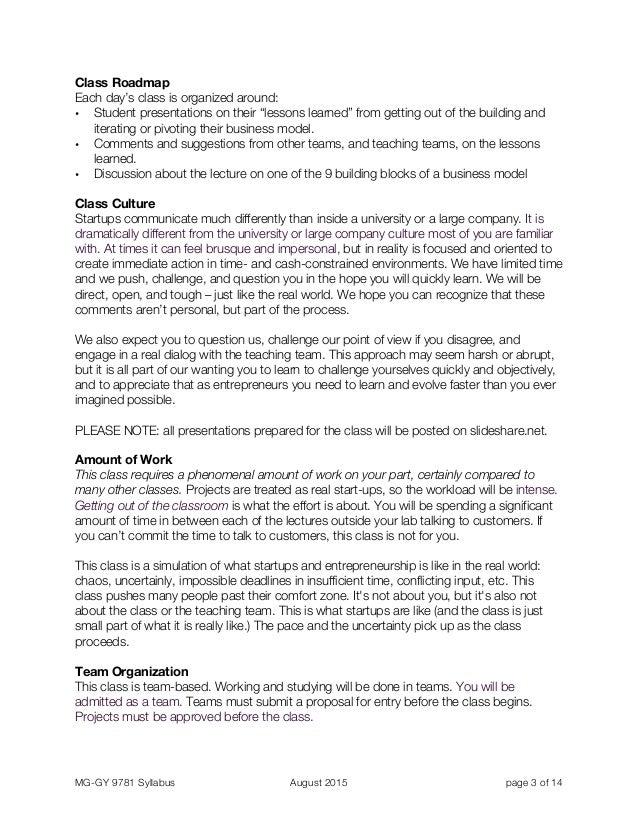 NYU 5-Day Lean Launchpad Syllabus Slide 3