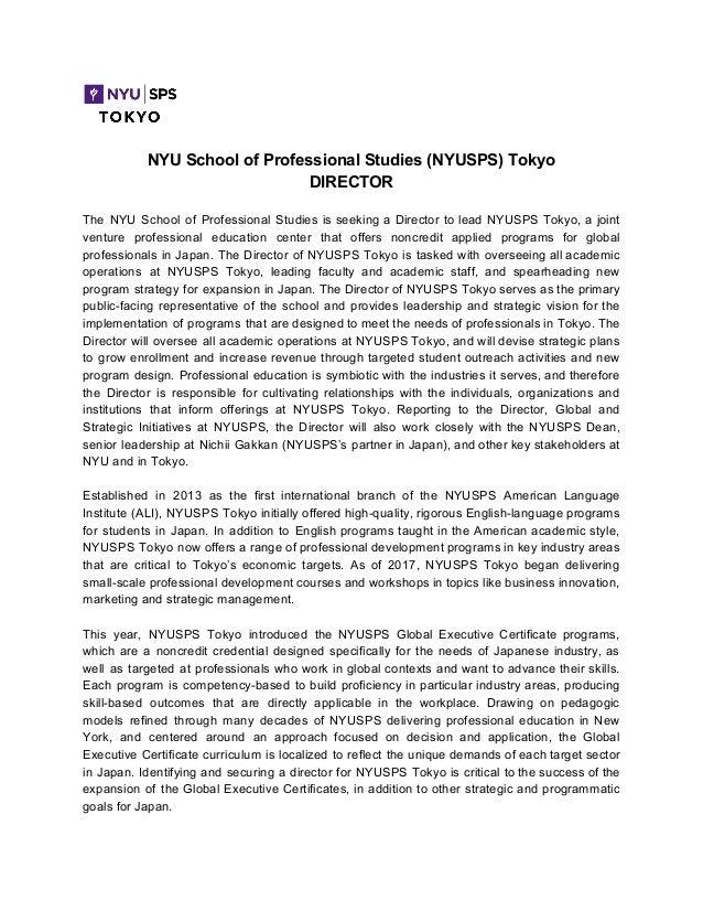 Nyu Sps Tokyo Director