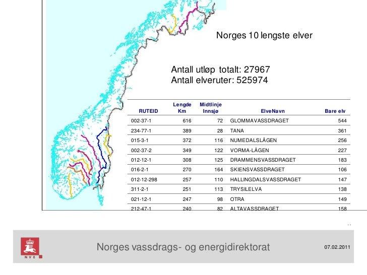 kart over elver i norge BK2011 Ny vassdragskunnskap basert på tørre data kart over elver i norge