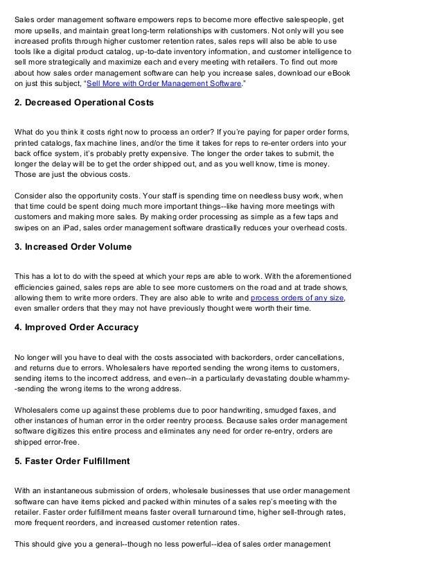 Sales Order Management Software: The ROI Impact | Handshake