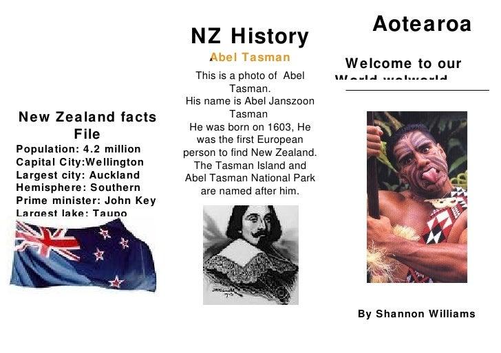 Aotearoa                             NZ History                                 Abel Tasman                               ...