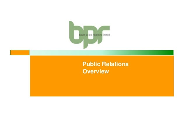 Public Relations Overview