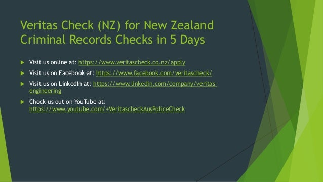 NZ Criminal Record Checks: Online & Results in 5 Days (www