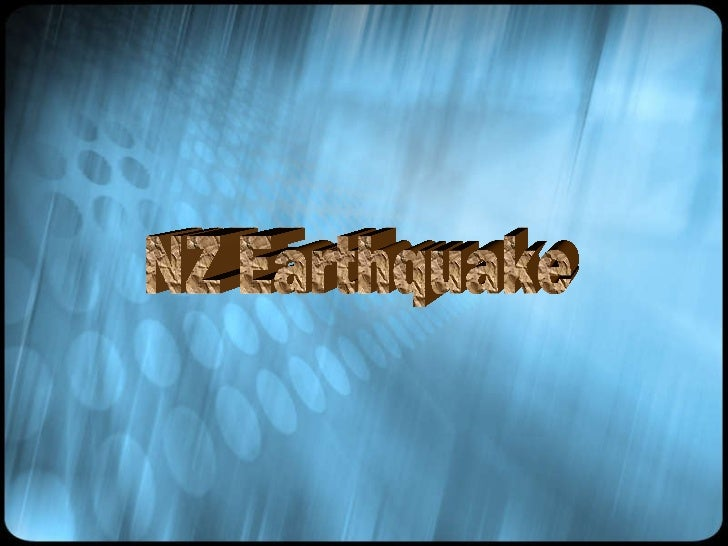 NZ Earthquake