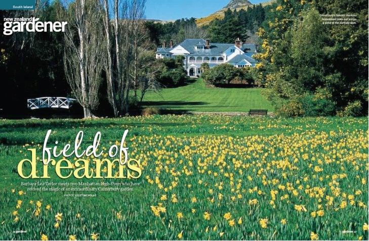 Nz gardener September 2008 - Otahuna Luxury Lodge New Zealand