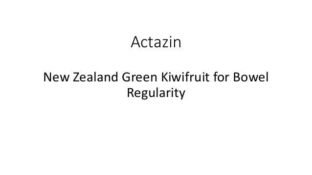 Actazin New Zealand Green Kiwifruit for Bowel Regularity