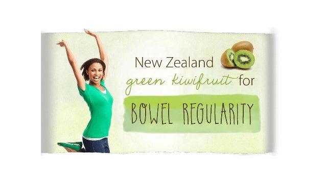 New Zealand Green Kiwifruit for Bowel Regularity Slide 2