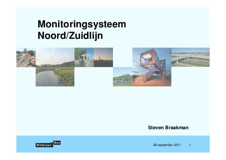 MonitoringsysteemNoord/Zuidlijn                    Steven Braakman                     28 september 2011   1