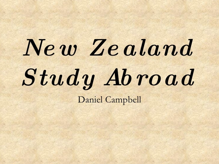 New Zealand Study Abroad Daniel Campbell