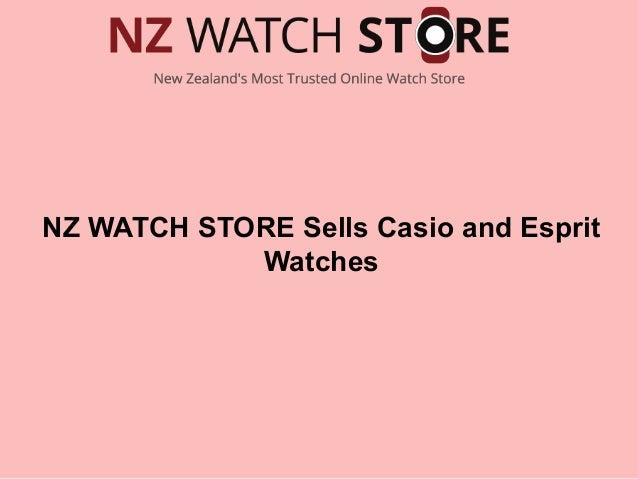 NZ WATCH STORE Sells Casio and Esprit Watches